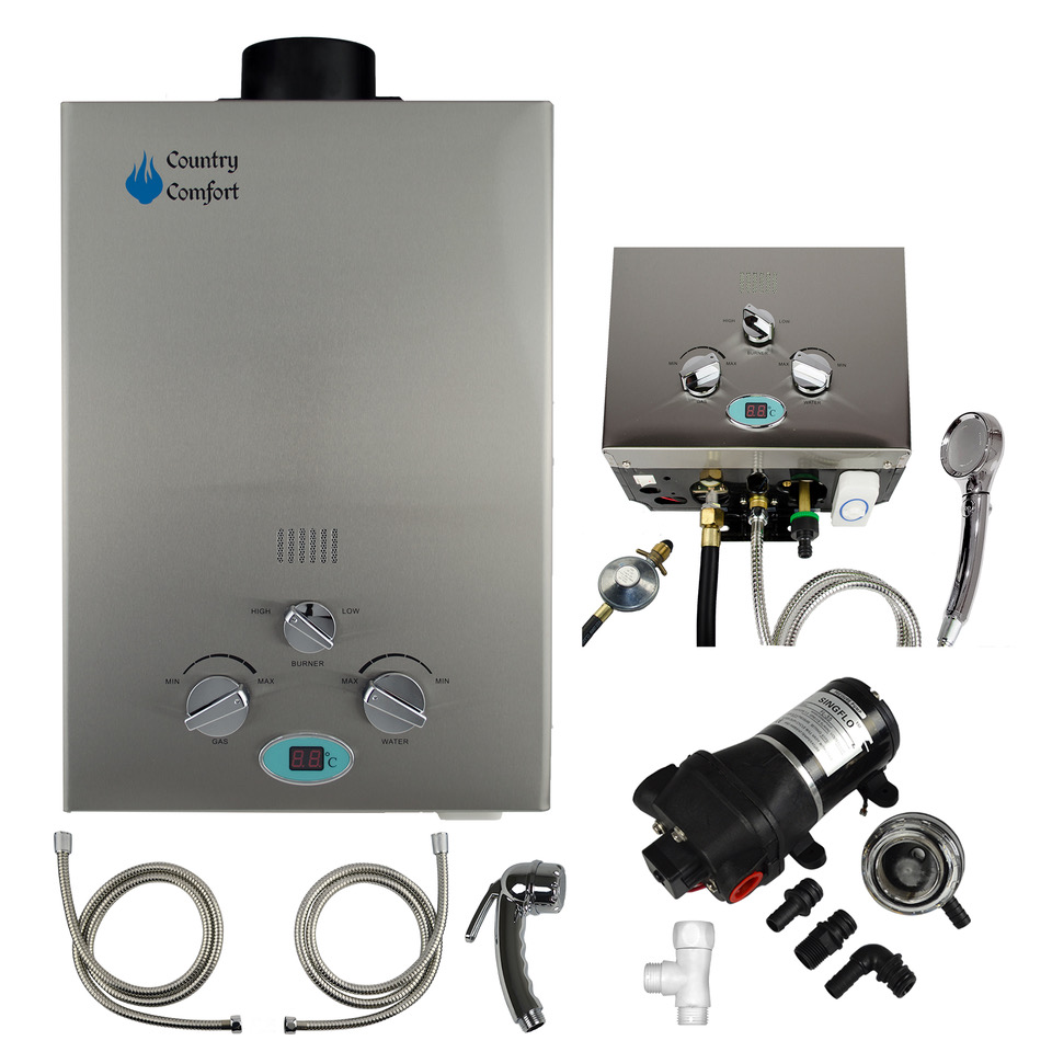 Country Comfort Hot Water System the best camping hot water system