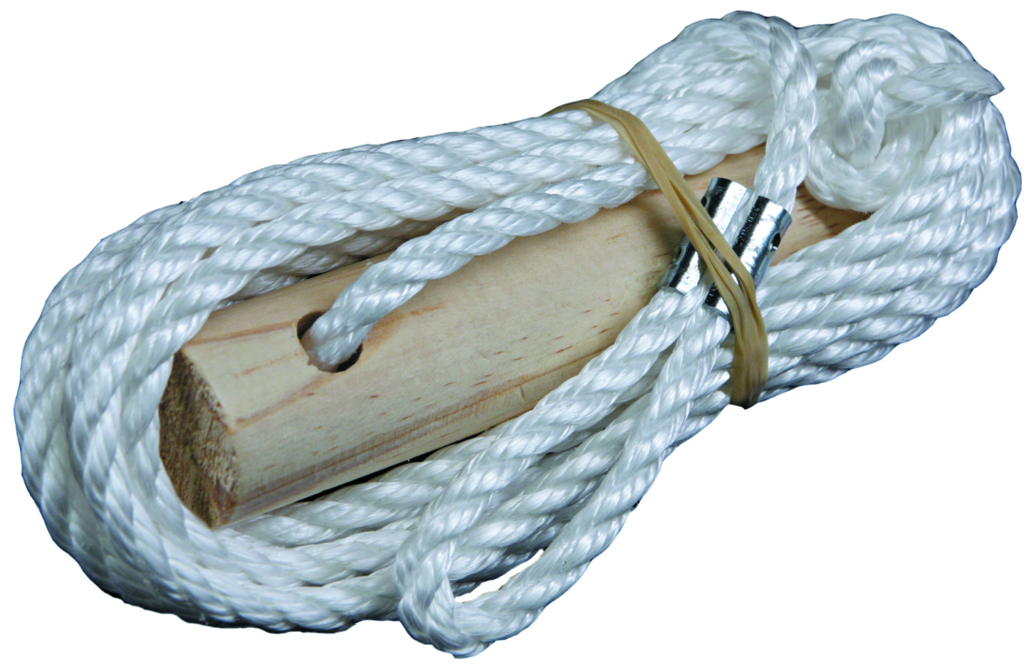 guy rope and wood slide with 6mm rope