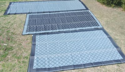 Affordable Camping Mats in black and grey