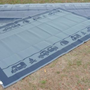Affordable Camping Mats in navy and grey