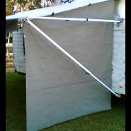 Privacy Screen End wall for Pop Top